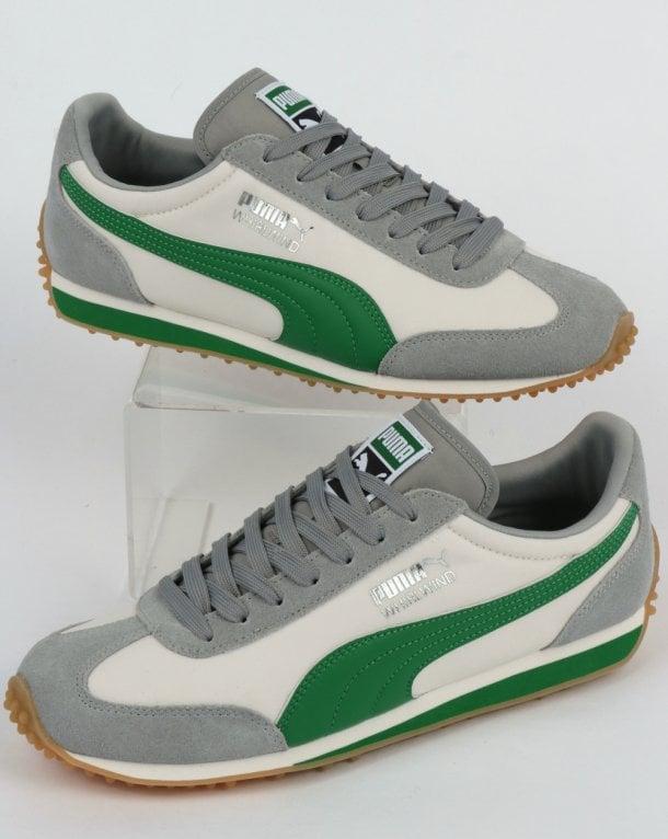 fa50e68389ce Puma Puma Whirlwind Classic Trainer Grey Amazon Green