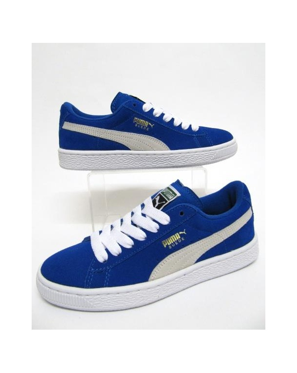 blue puma trainers
