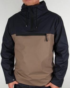 Rains Anorak Jacket Dark Navy/Soil