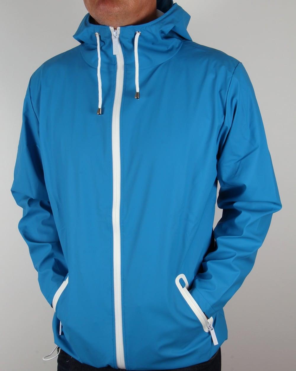 Rains Breaker Jacket Sky Blue Rainproof Coat Waterproof Mens