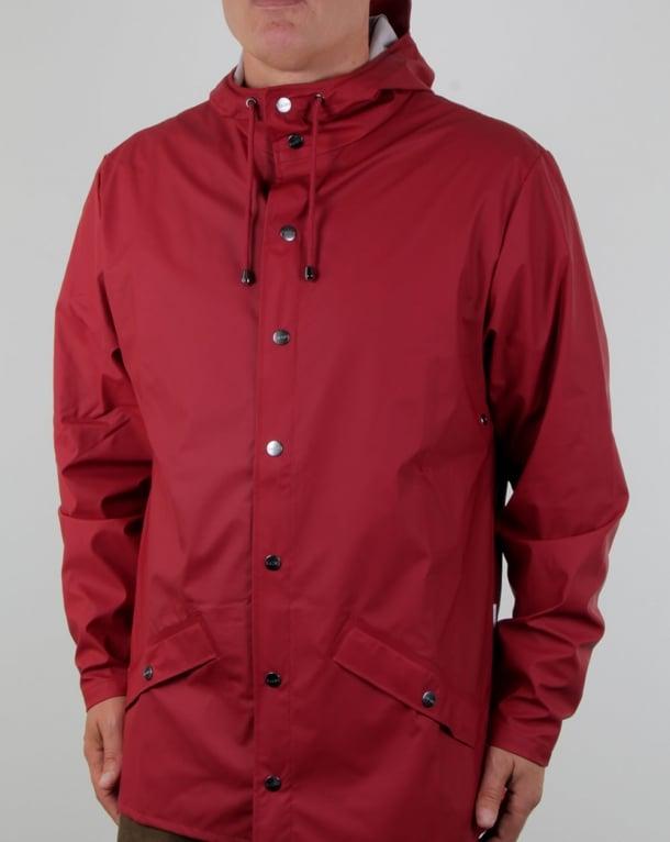 Rains Jacket Scarlet Red