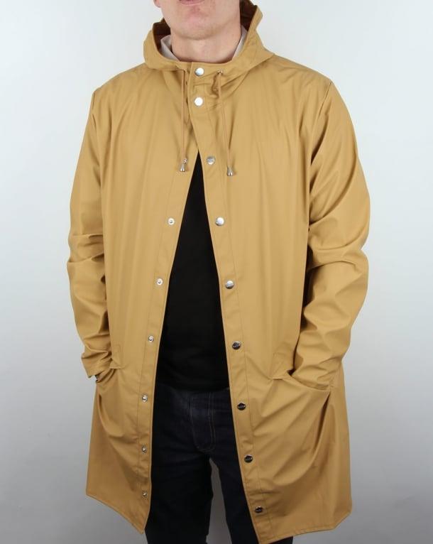 Rains Long Jacket Khaki