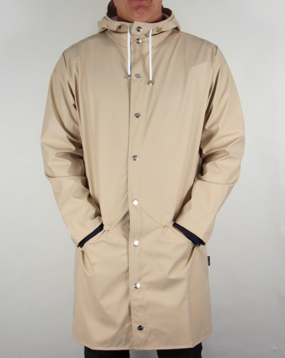 2a229093 Rains Long Jacket Stone,rainproof,mac,coat,waterproof,mens