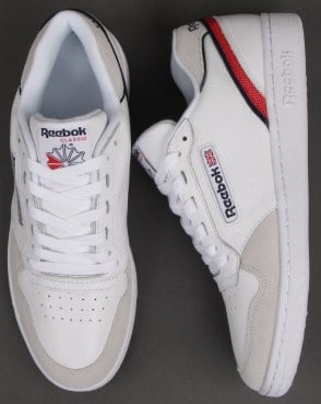 new style ab50f 91a81 Reebok Act 300 Trainers White navy red