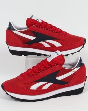 Reebok Aztec Retro Trainers Flash Red/Navy