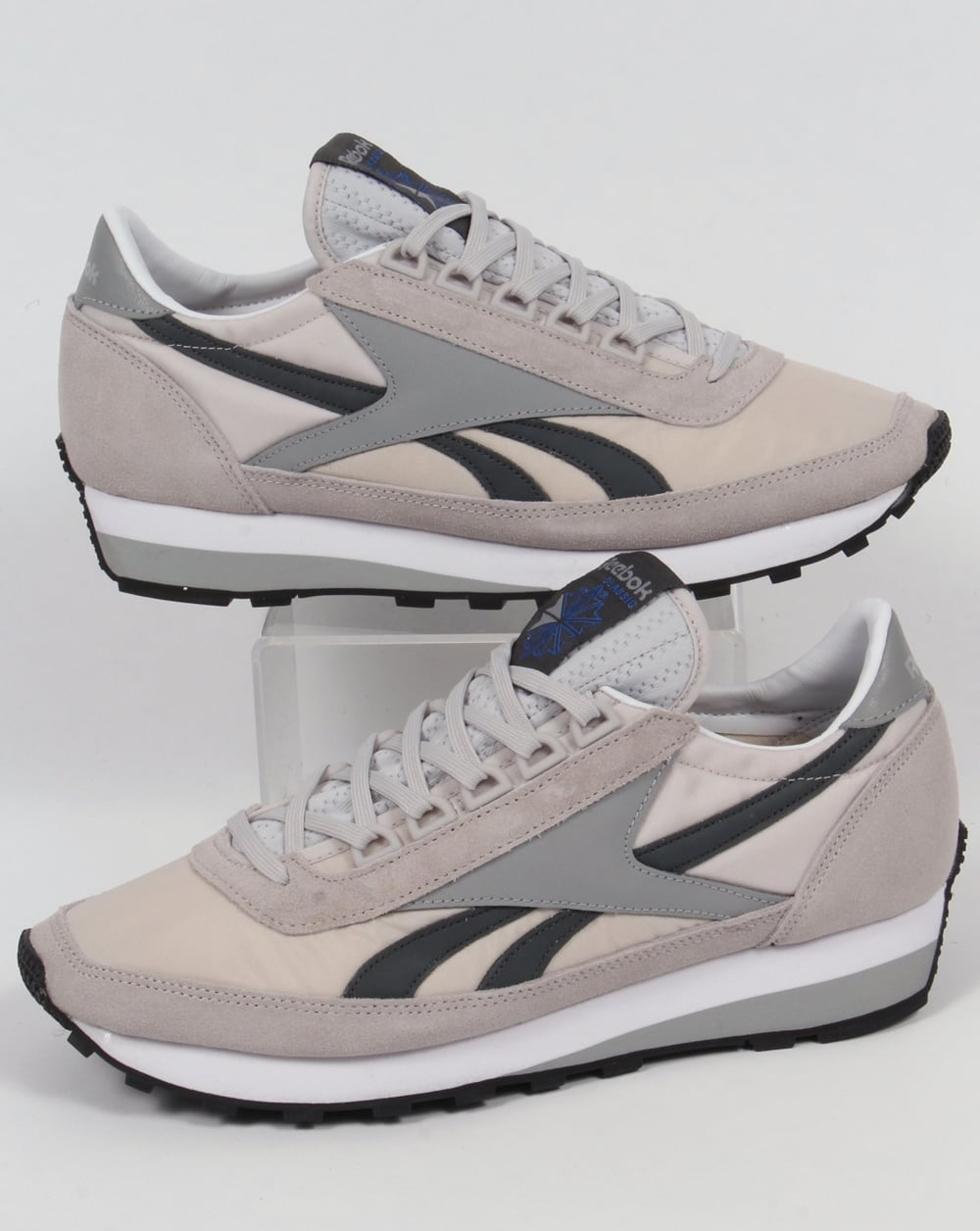 92fe4f899df Reebok Aztec Retro Trainers Steel Gravel80s