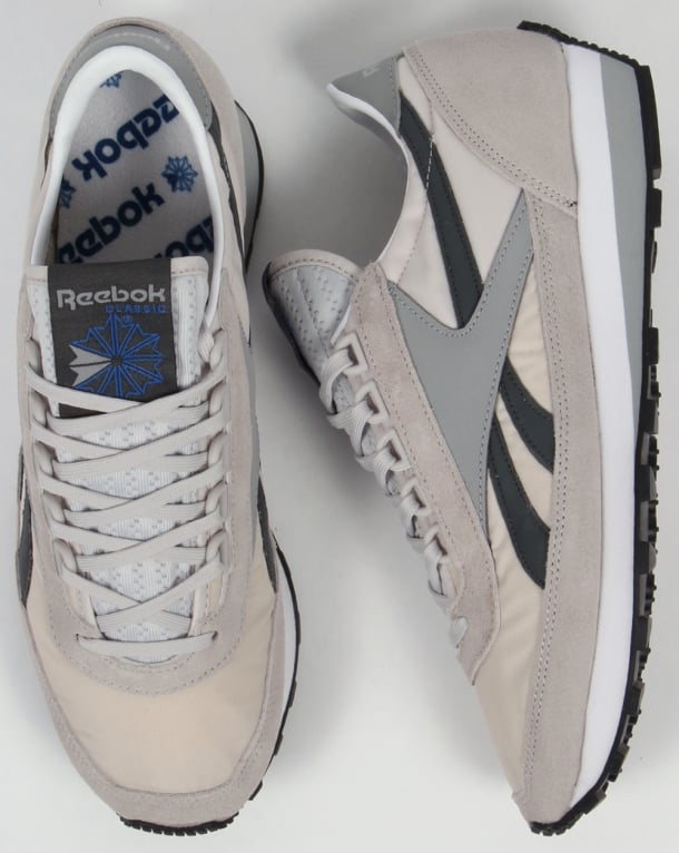 Reebok Aztec Retro Trainers Steel/gravel
