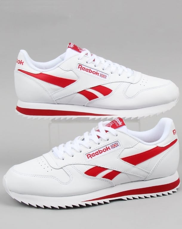 mens red reebok trainers