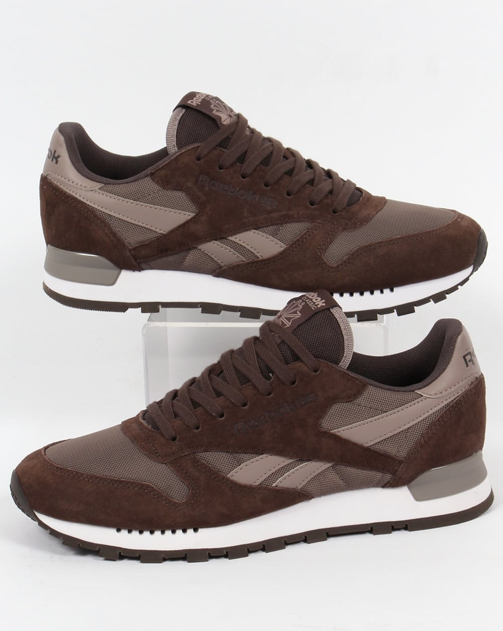 4ce1a7753ae Reebok Reebok Classic Leather Clip Trainers Cliff Stone