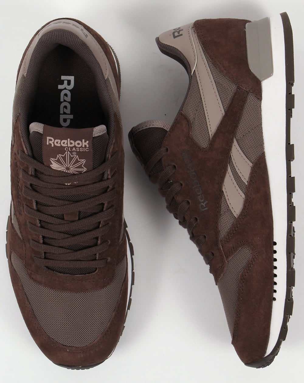0b7e603e297 Reebok Classic Leather Clip Trainers Cliff Stone