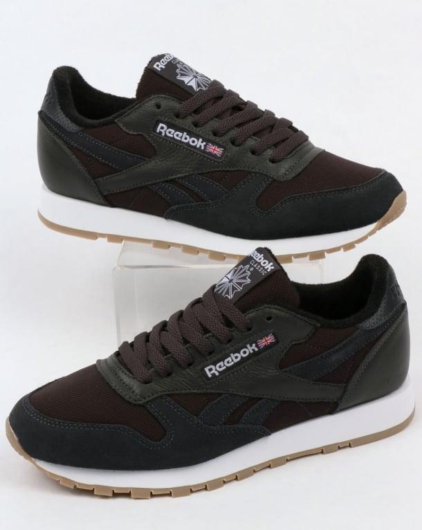 Reebok Classic Leather ESTL Trainers Coal/White