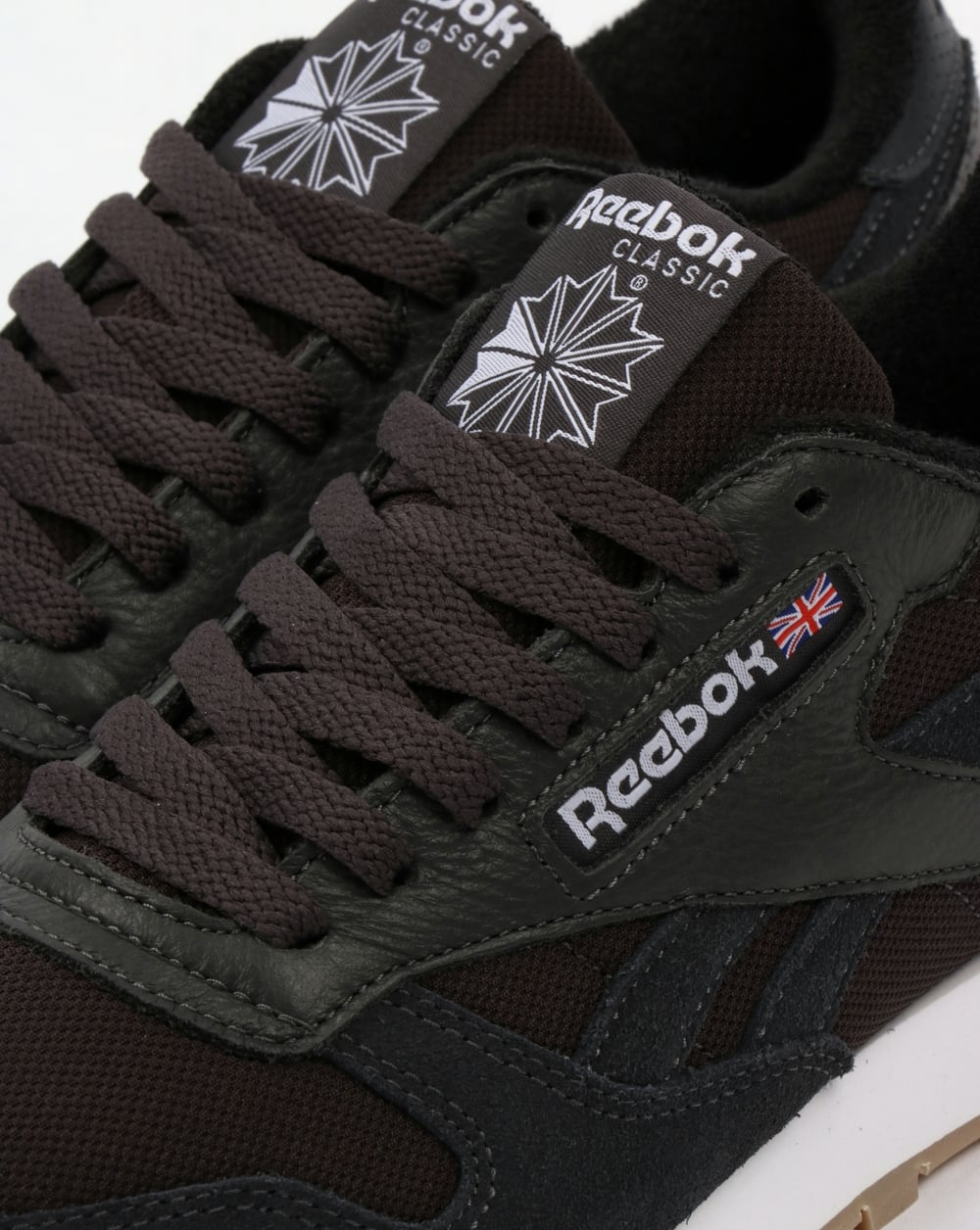Reebok Classic Leather ESTL Trainers Coal White cb0043698