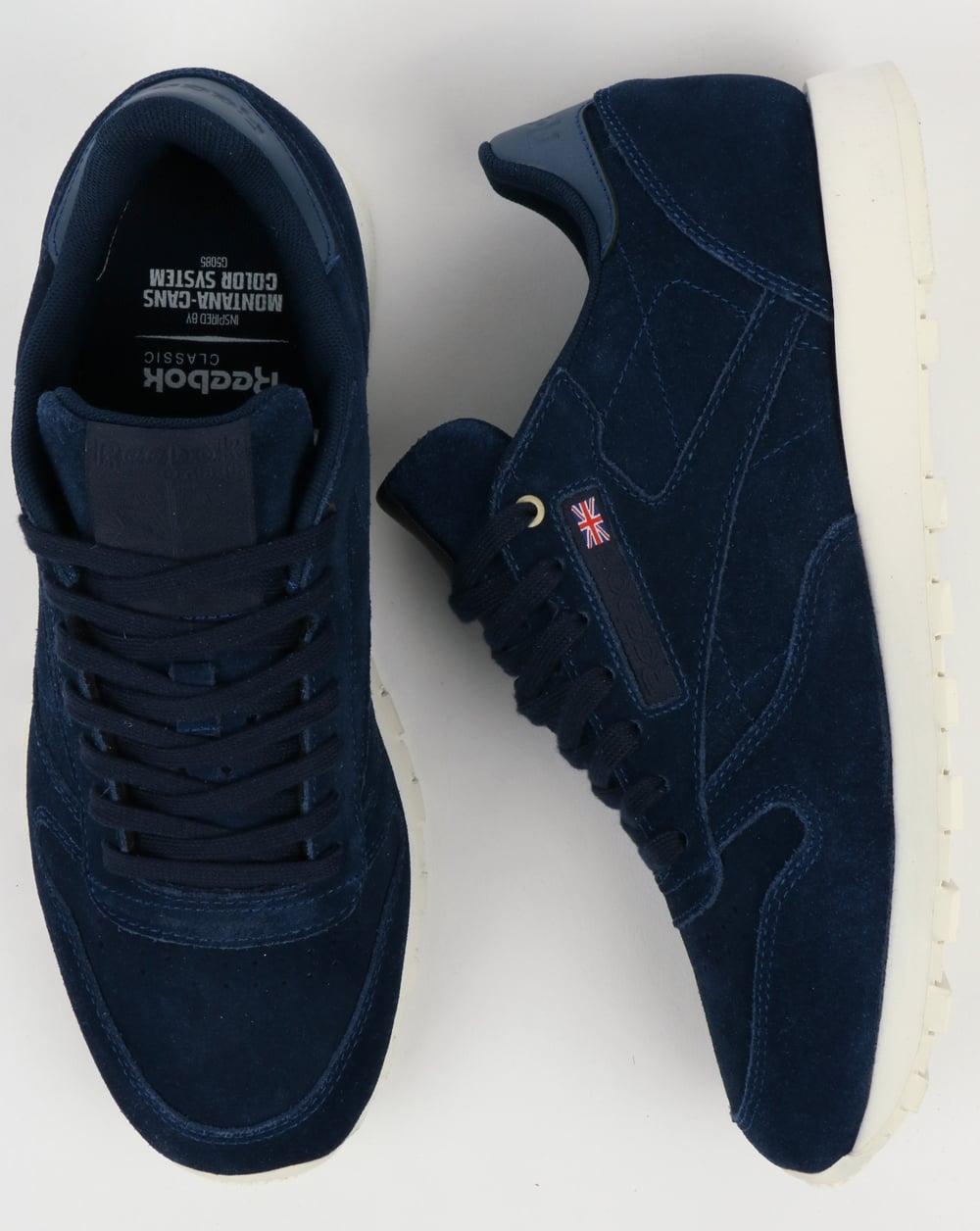 online store 86f3e b7438 ... authentic reebok classic leather mcc trainers blue note chalk 7ce3d  8bfa7