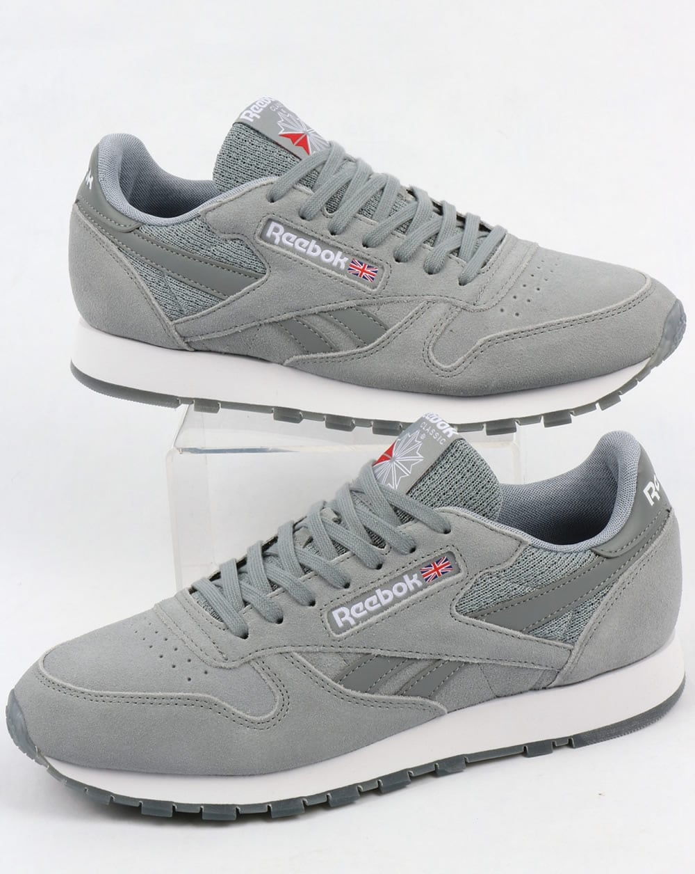 daeaef92be2 Reebok Reebok Classic Leather NM Trainers Flint Grey White