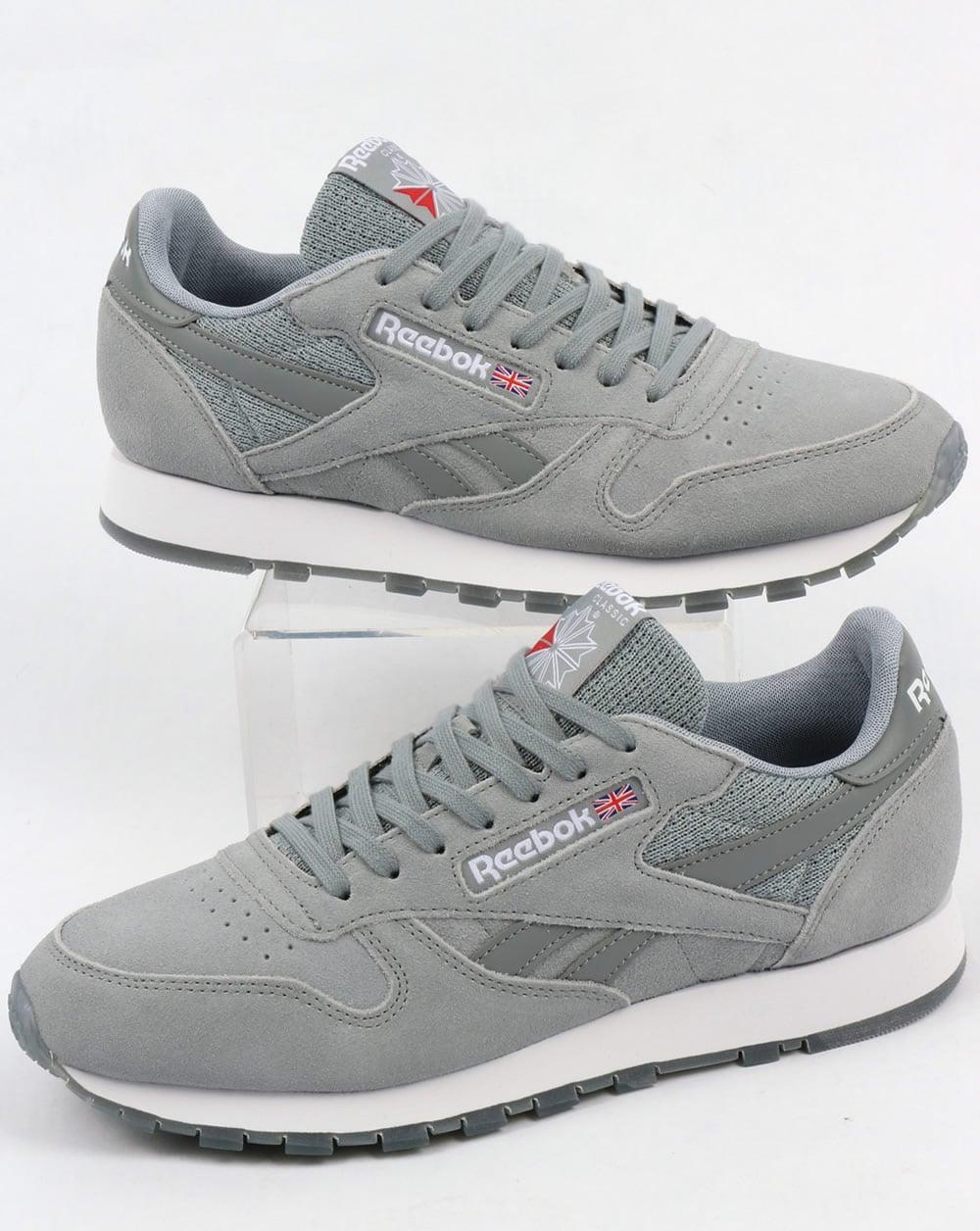 all grey reebok classics