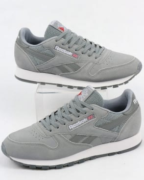 Reebok Classic Leather NM Trainers Flint Grey/White