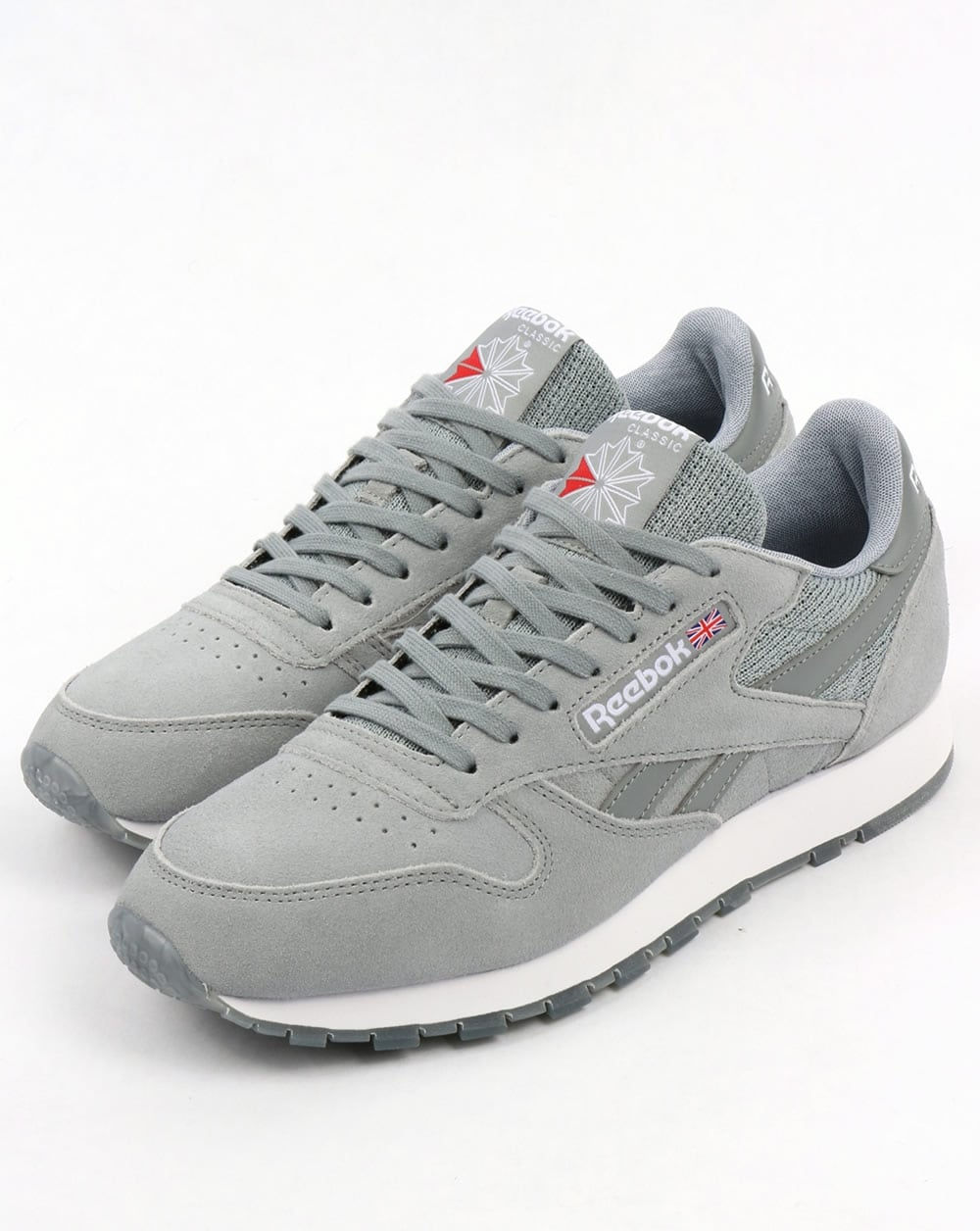 2cc3b5a58a6 Reebok Classic Leather NM Trainers Flint Grey White
