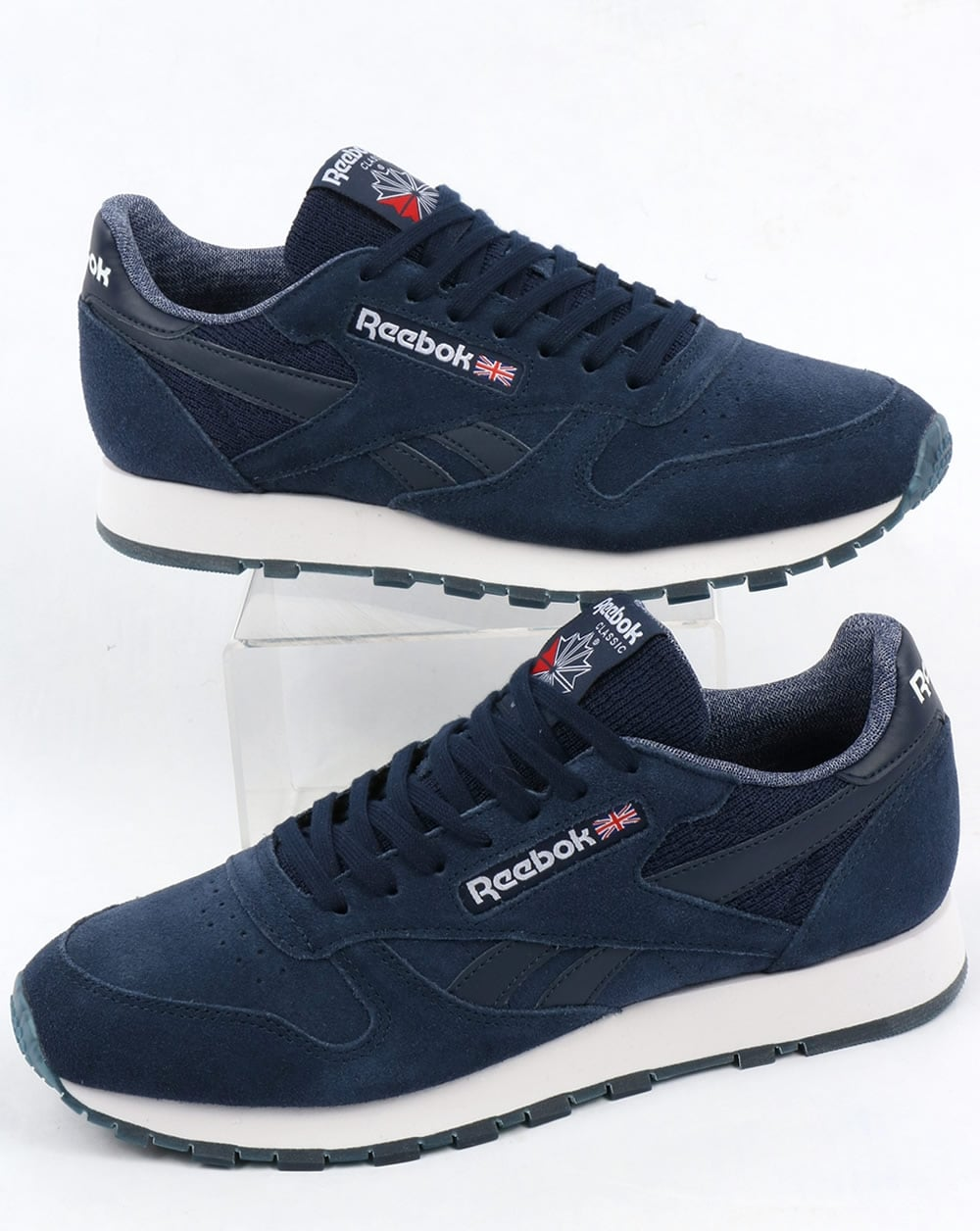 335a9756cd0 Reebok Reebok Classic Leather NM Trainers Navy White
