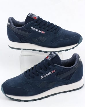 Reebok Classic Leather NM Trainers Navy/White
