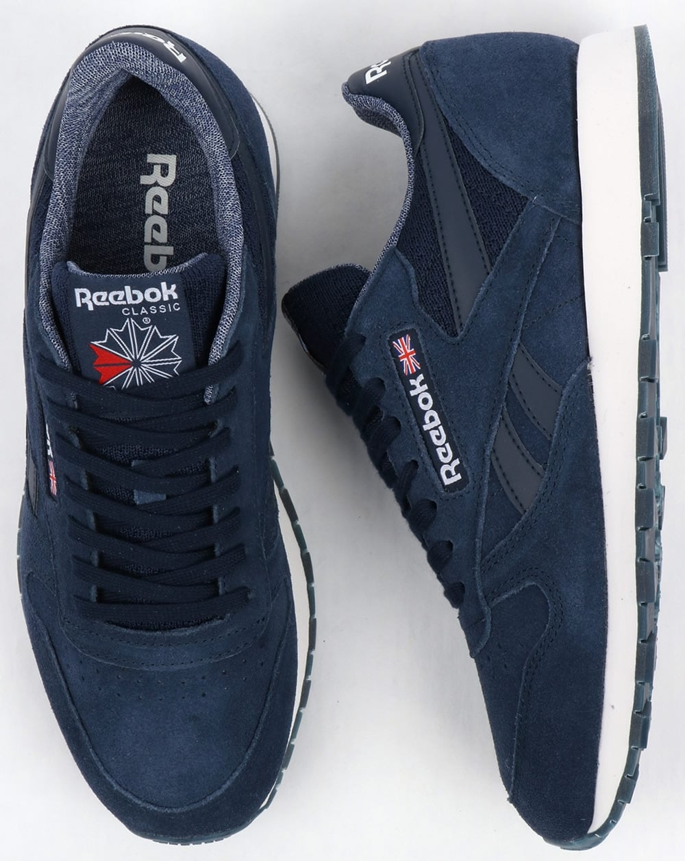 cc16d539226 Reebok Classic Leather NM Trainers Navy White