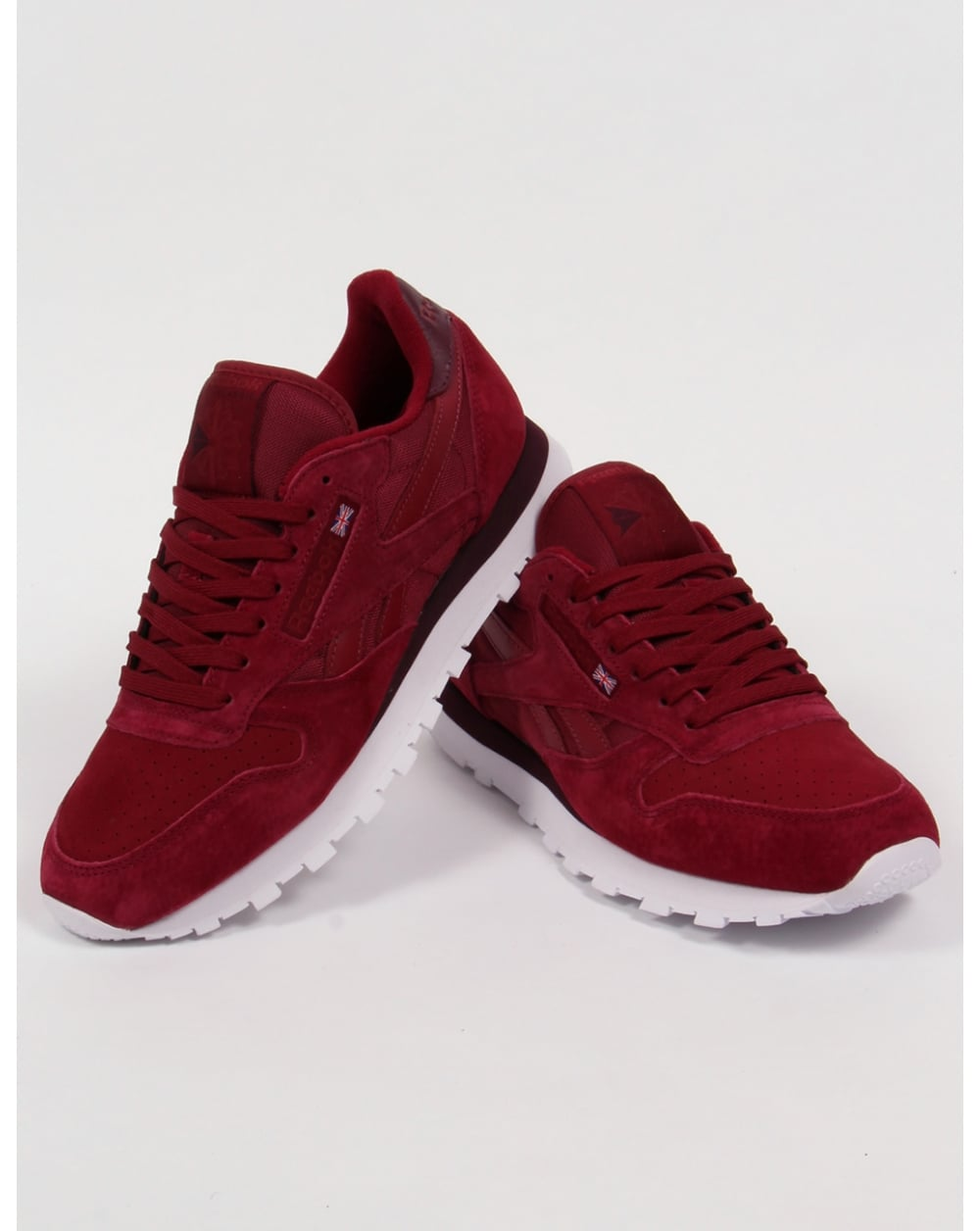 Reebok Classic Leather NP Trainers Burgundy 2dd41a67bc61