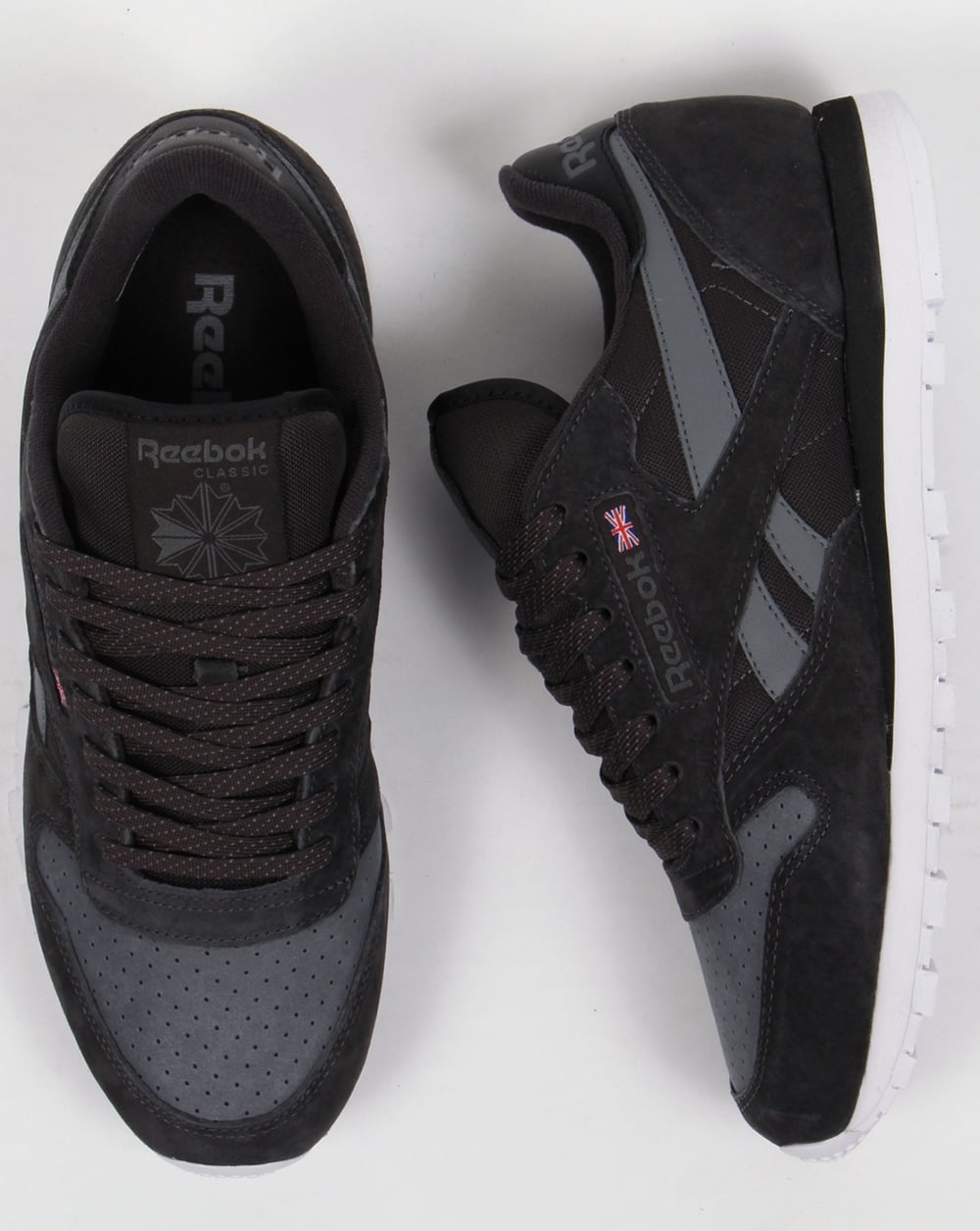 reebok classic leather mens trainers black Sale 6ee894833
