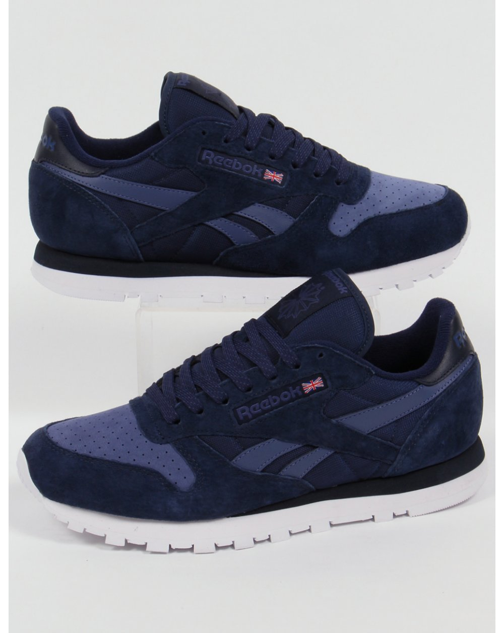 5ca2c15e9a4 Reebok Reebok Classic Leather NP Trainers Navy Midnight Blue