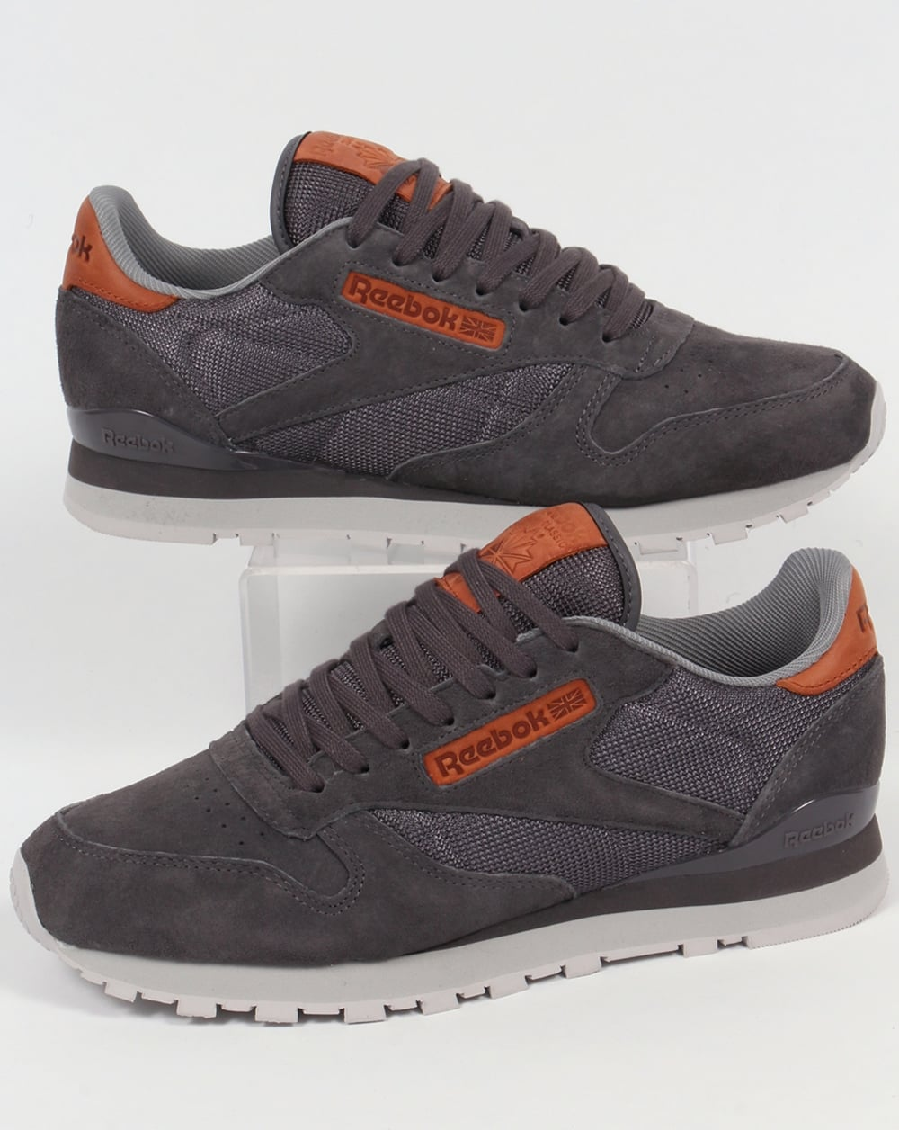 Reebok Reebok Classic Leather OL Trainers Ash Grey Steel 1af2ab0c3