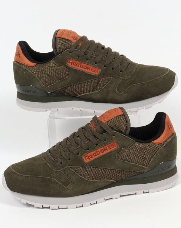 b77c5f98ddac5 Reebok Classic Leather OL Trainers Poplar Green