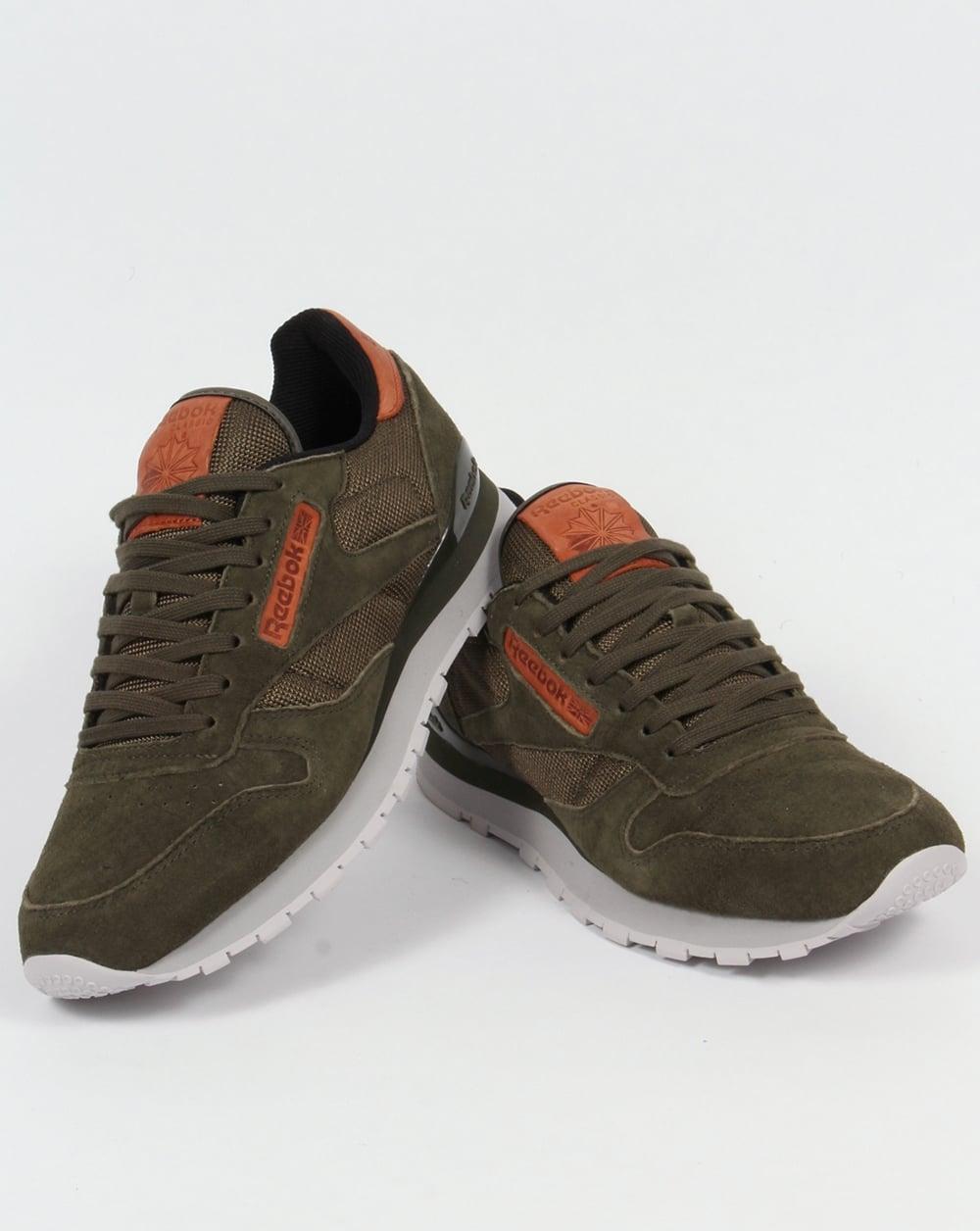 1f6188a6219 ... Reebok Classic Leather OL Trainers Poplar Green ...
