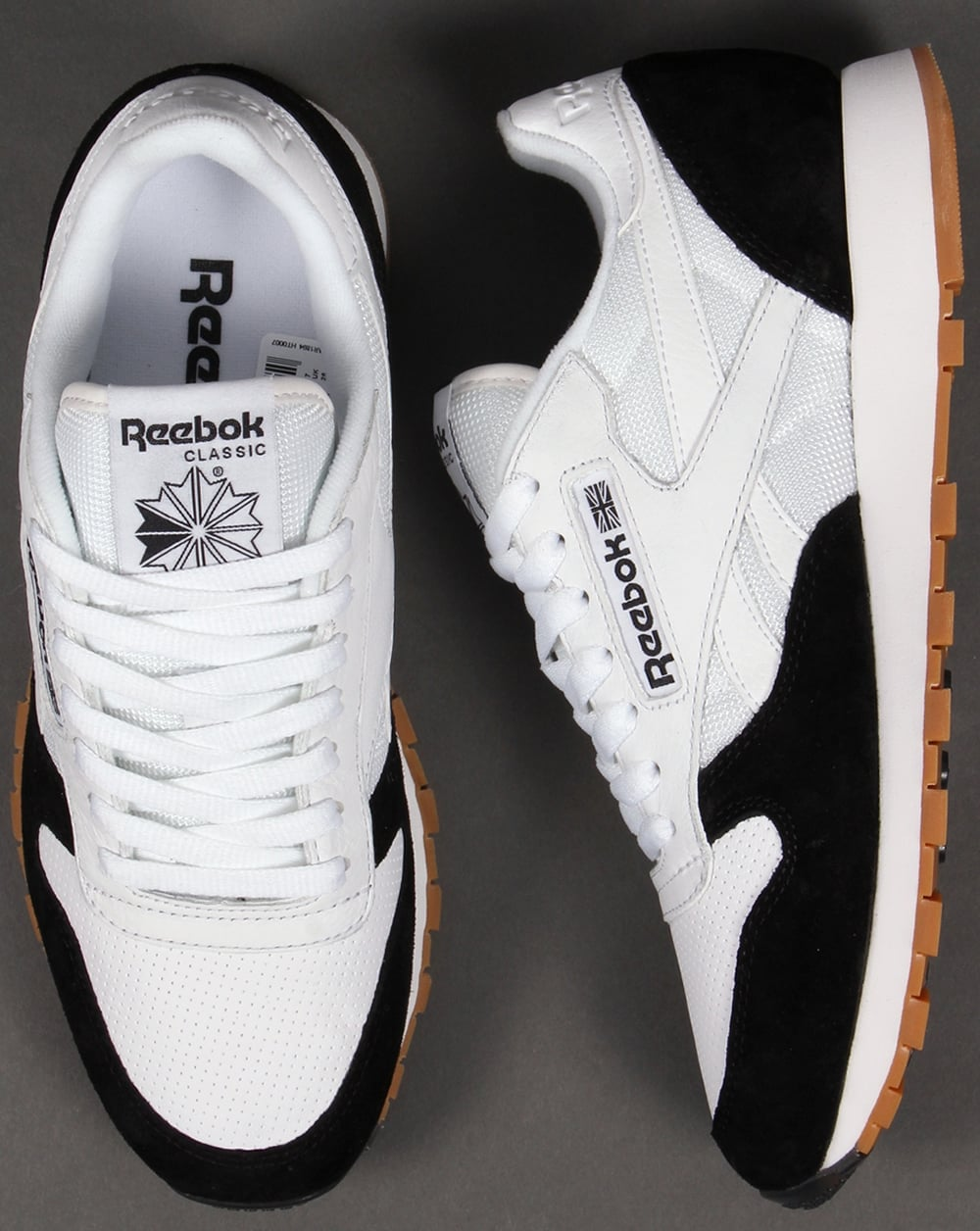 reebok classic leather black white christmas