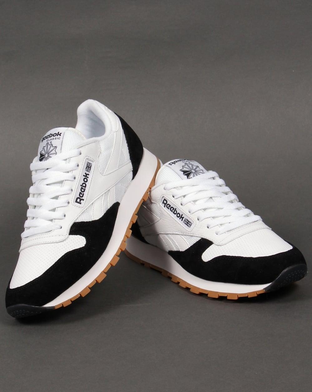 390754f78014dc Reebok Classic Leather Perfect Split Trainers White Black