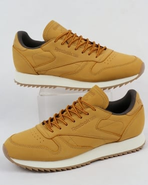 Reebok Classic Leather Rippler Trainers Golden Harvest/Grey