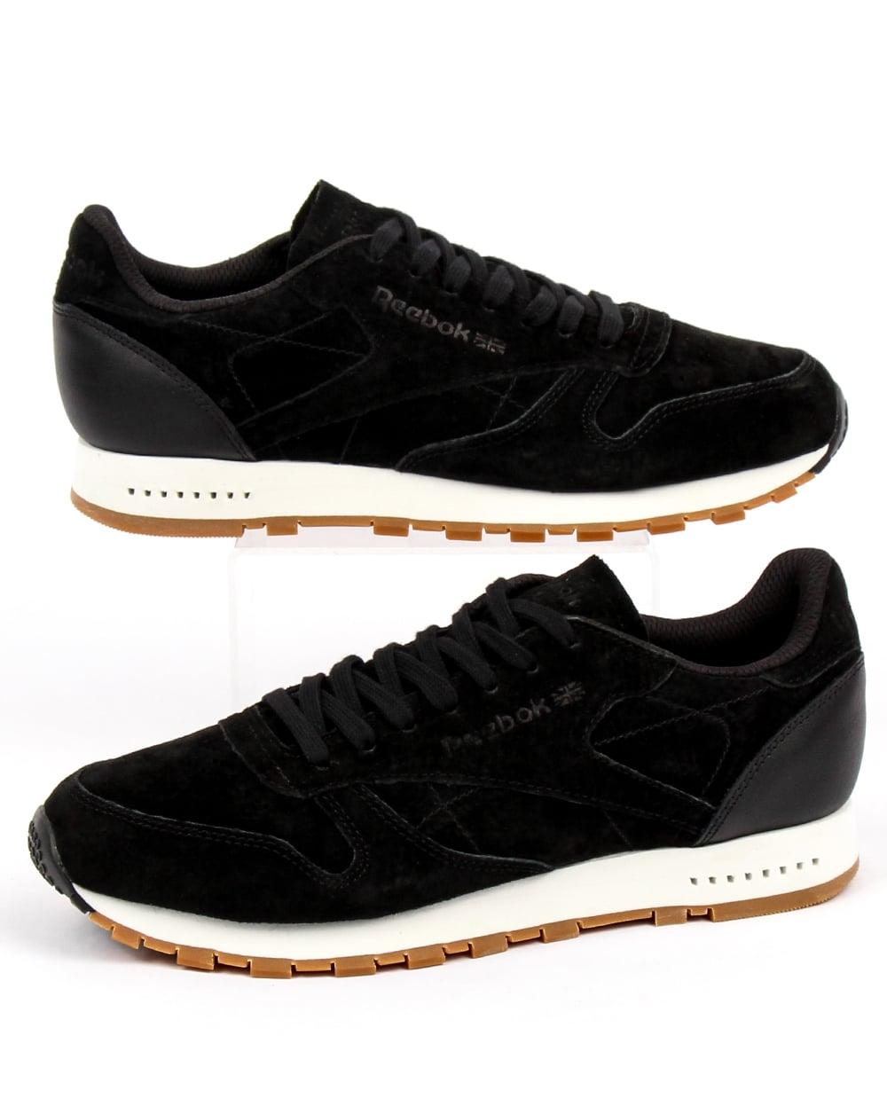 Reebok Cl Leather Clean (w) Black Chalk