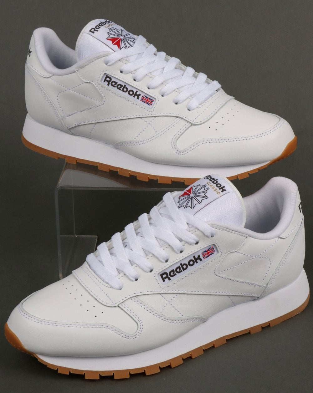 Reebok Classic Leather Trainers White gum 92352164d