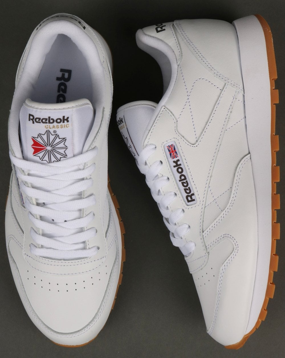 Classics White80s Trainers Reebok Sole Casual Gum Classic Leather 5JuF1clKT3