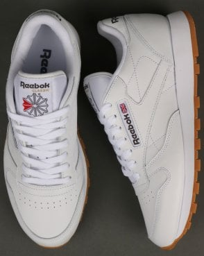 89a5fb03ae7 Reebok Classic Leather Trainers White Gum
