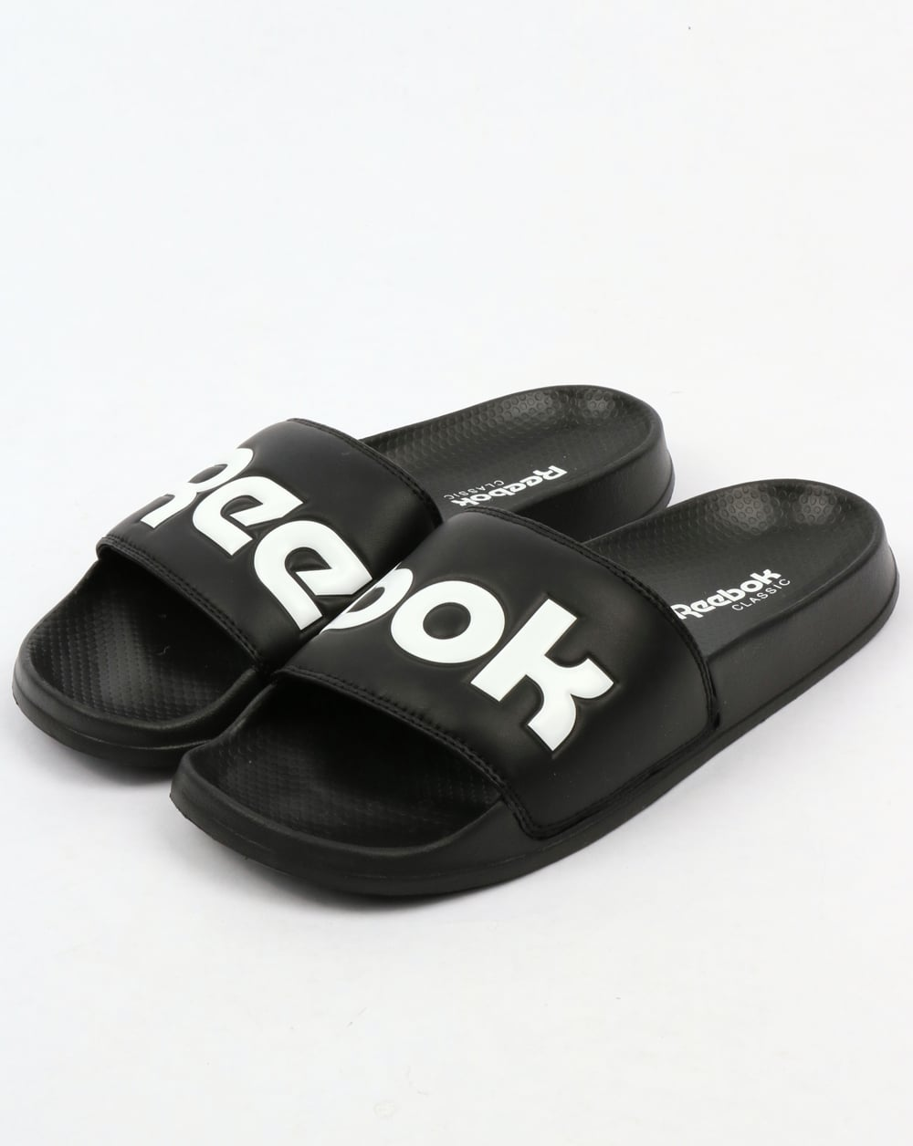 Reebok Classic Logo Sliders Black 80s Casual Classics