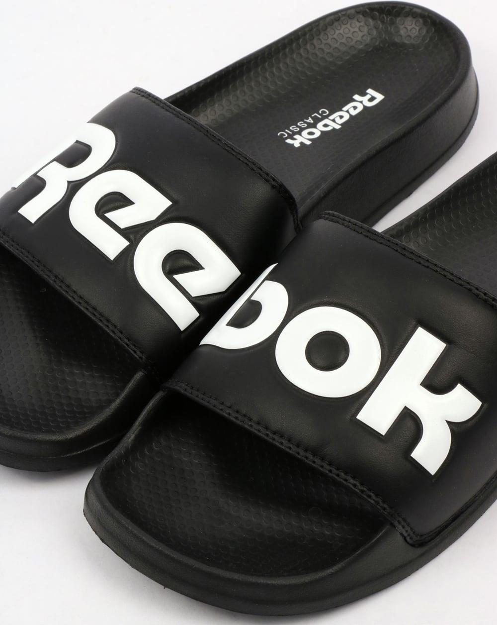 bb2d54018d6bac Reebok Classic Logo Sliders Black