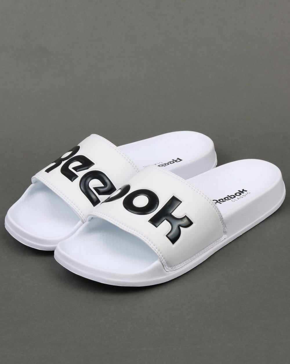9e389735bba9e1 Reebok Reebok Classic Logo Sliders White