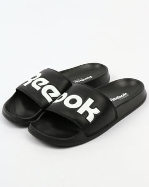 Reebok Classic Logo Slides Black