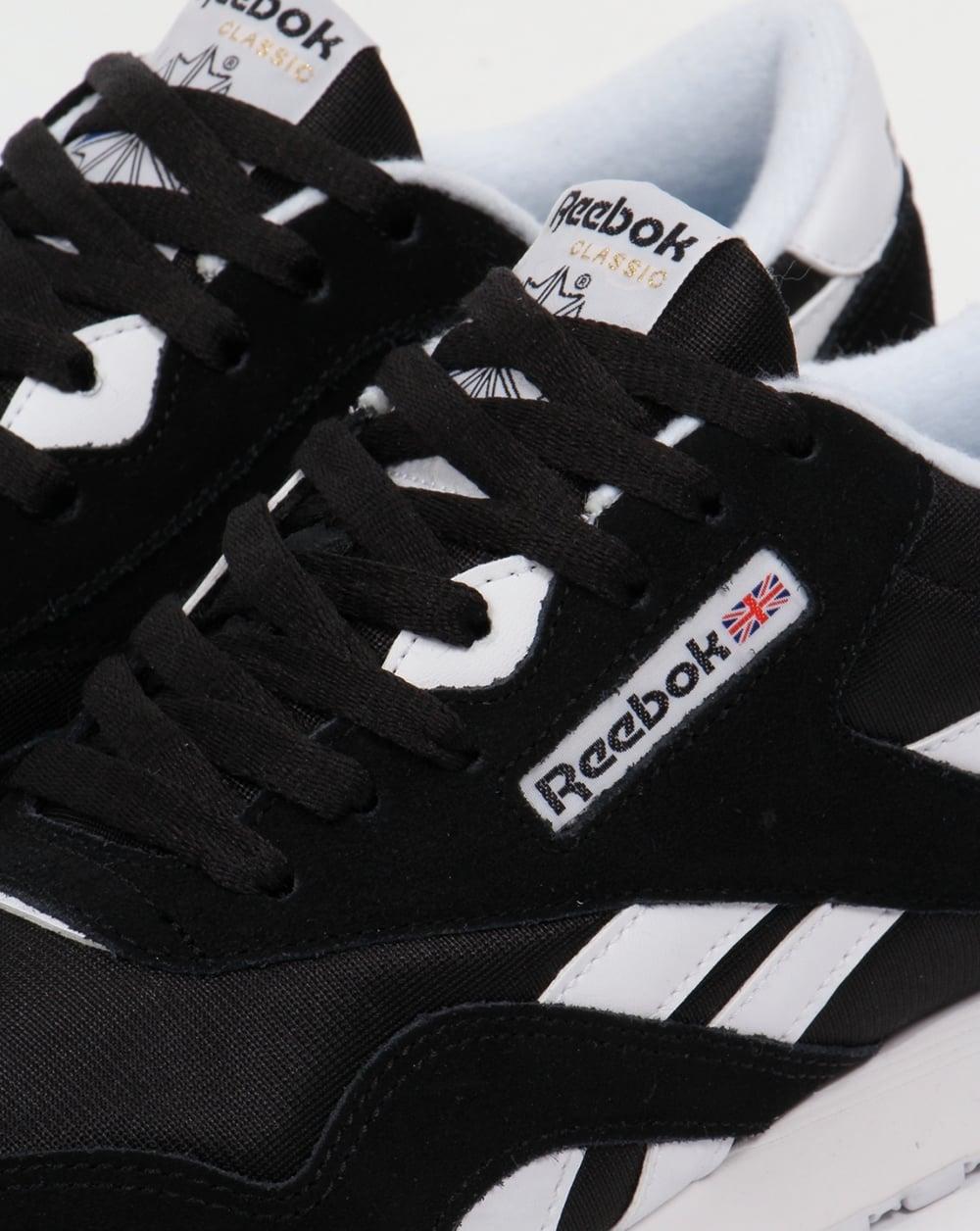 e01261d771af05 Reebok Classic Nylon Trainers Black White