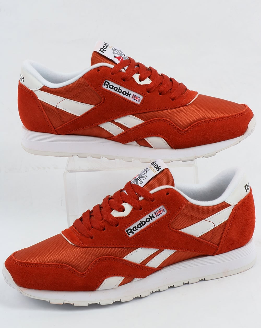 reebok classic nylon trainers burnt orange shoes runners mens. Black Bedroom Furniture Sets. Home Design Ideas