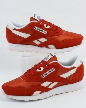 Reebok Classic Nylon Trainers Burnt Orange