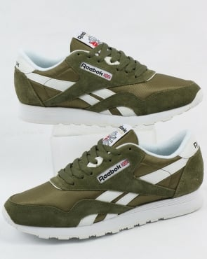 Reebok Classic Nylon Trainers Hunter Green