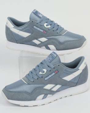 Reebok Classic Nylon Trainers light Blue Grey /White