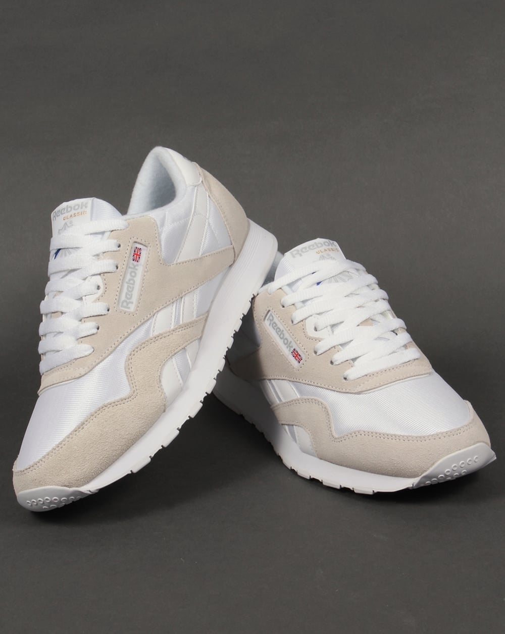 Reebok Classic Nylon Trainers In Grey