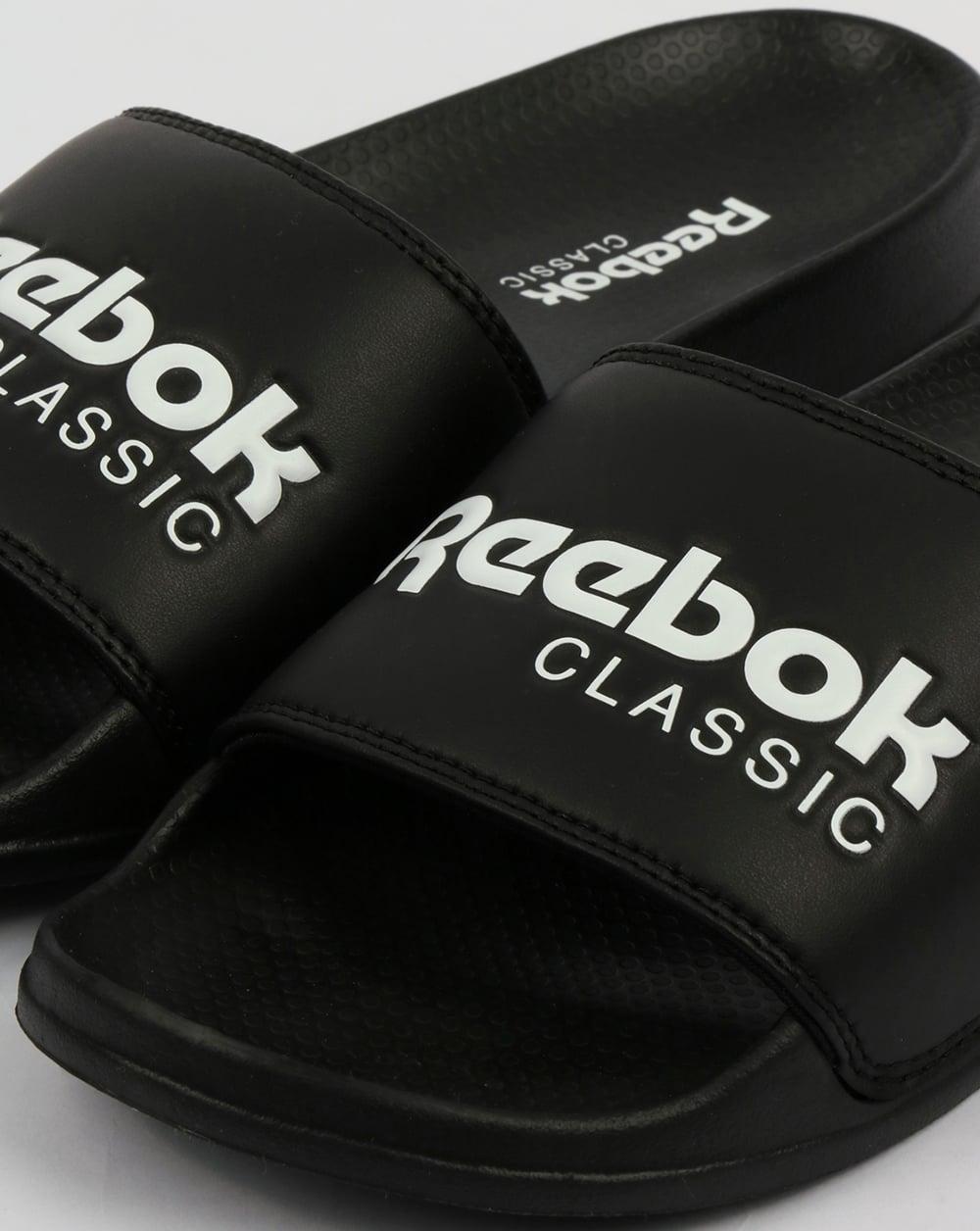 b076d0fea64cc1 Reebok Classic Sliders Black