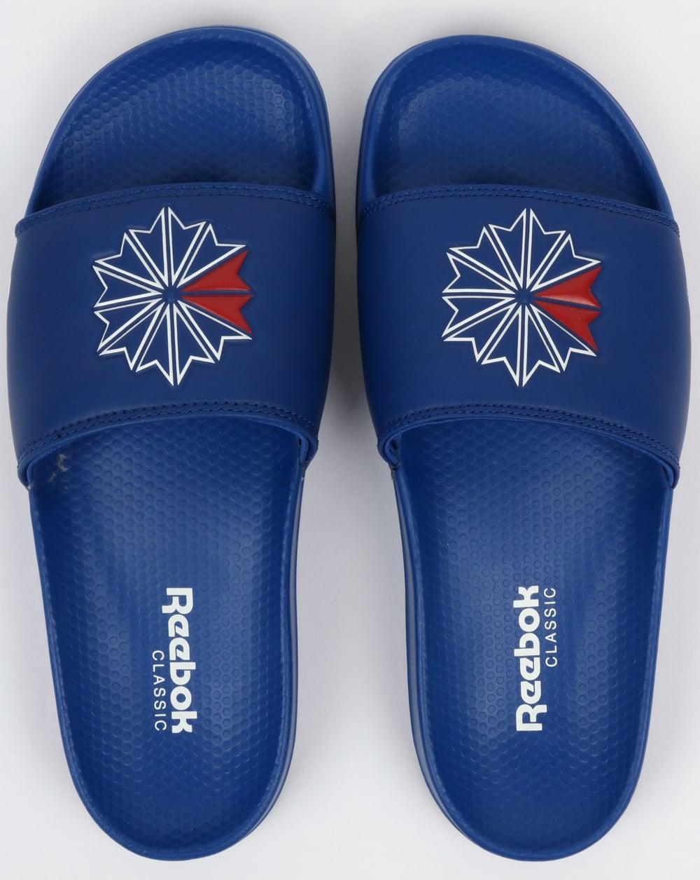edb2852fa75 Reebok Classic Sliders Royal Blue