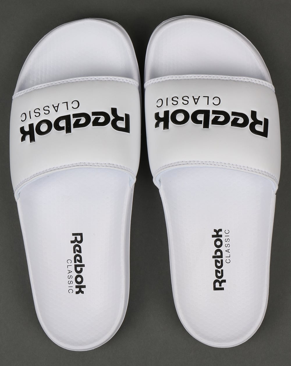 d3bf2571151073 Reebok Classic Sliders White